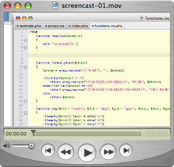 Snipplr Screencast